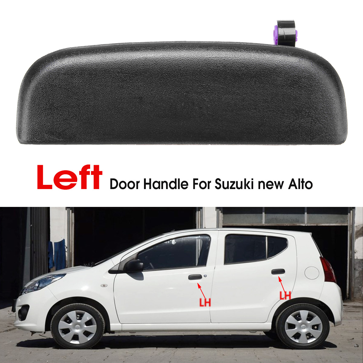 Left or Right Black Car Front and Rear Outer Door Handle Knob for Suzuki New Alto