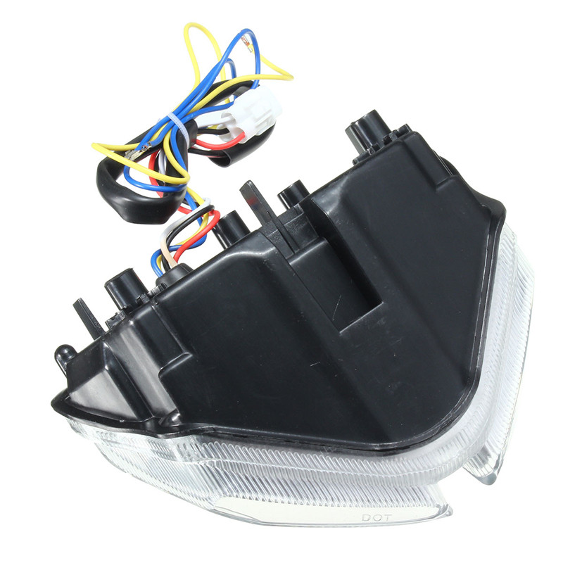 Motorcycle Tail Brake Turn Signal Integrated Led Light For SUZUKI GSXR 600 750 1000