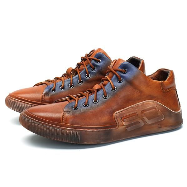 Men Comfy Casual Genuine Leather Sneaker