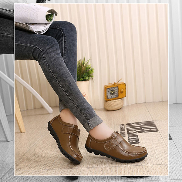 Women Flats Shoes Slip On Round Toe Outdoor Soft Loafers