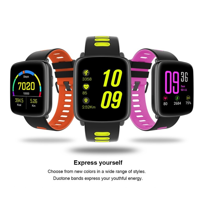 GV68 Heart Rate Monitor Pedometer Sport bluetooth Smart Bracelet For iphone X 8 Samsung S8 Xiaomi 6