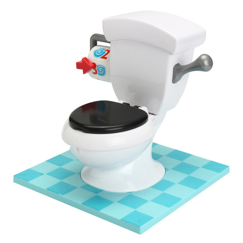 Creative Super Fun Prank Joke Mini Toilet Parents Kids Friends Play Together Game Toy Gift