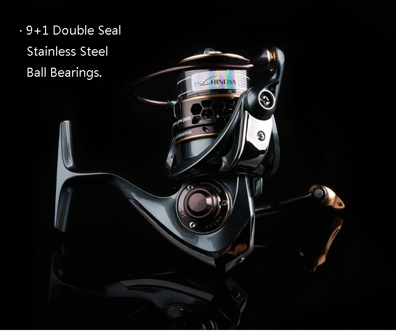Trulinoya JAGUA R 3000 5.2:1 9+1BB Double Spool Spinning Fishing Reel Saltwater Carp Fishing Reel