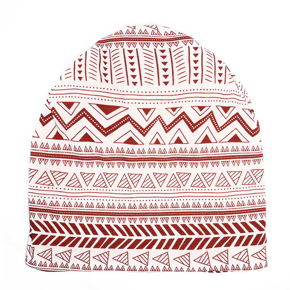 Unisex Geometric Pattern Print Headscarf Multi-purpose Hat