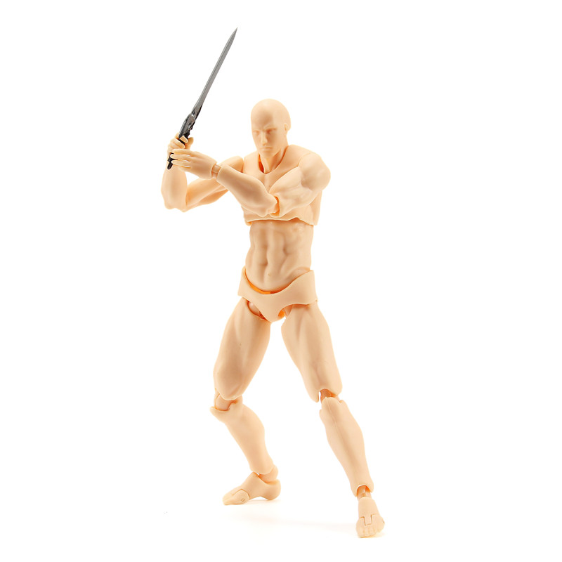 17cm 2.0 Deluxe Edition PVC Action Figure Skin Color Nude Male Joint Figure Collections Gift Doll To