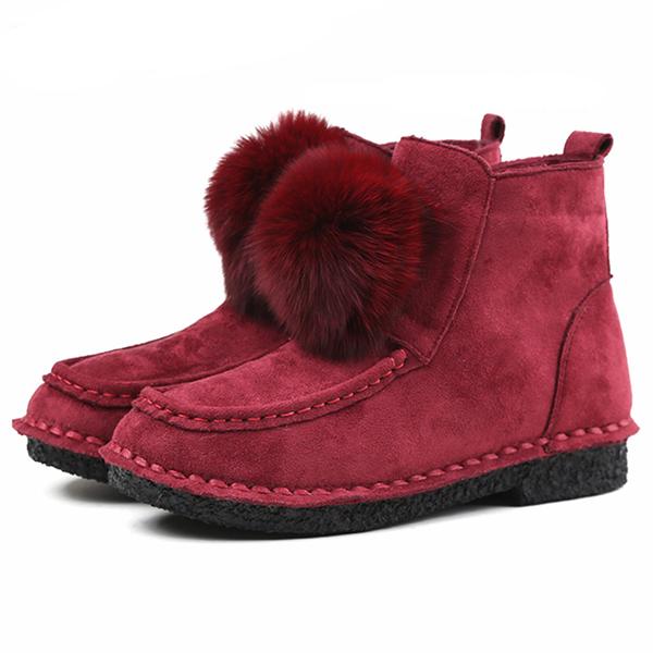 Зимняя меховая подкладка Comfy Cotton Ankle Ботинки Для Женское