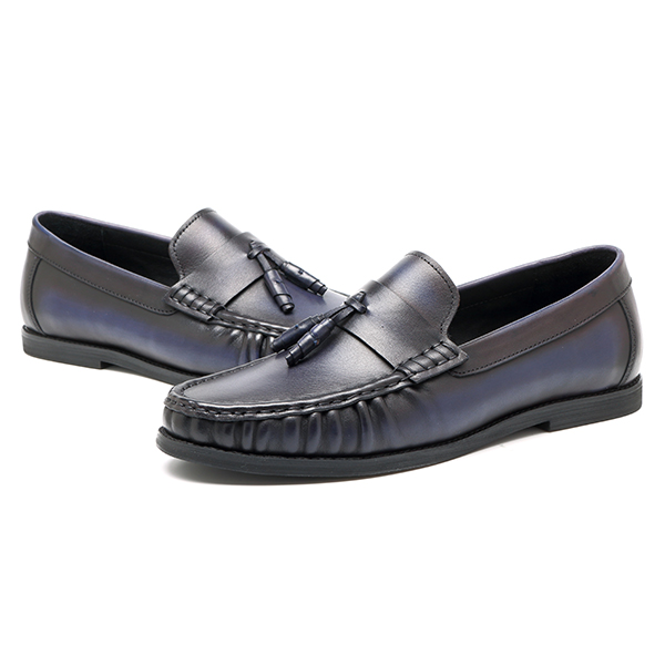 Men Comfy Casual Handsewn Moccasin Genuine Leather Flats Oxfords Loafers Shoes