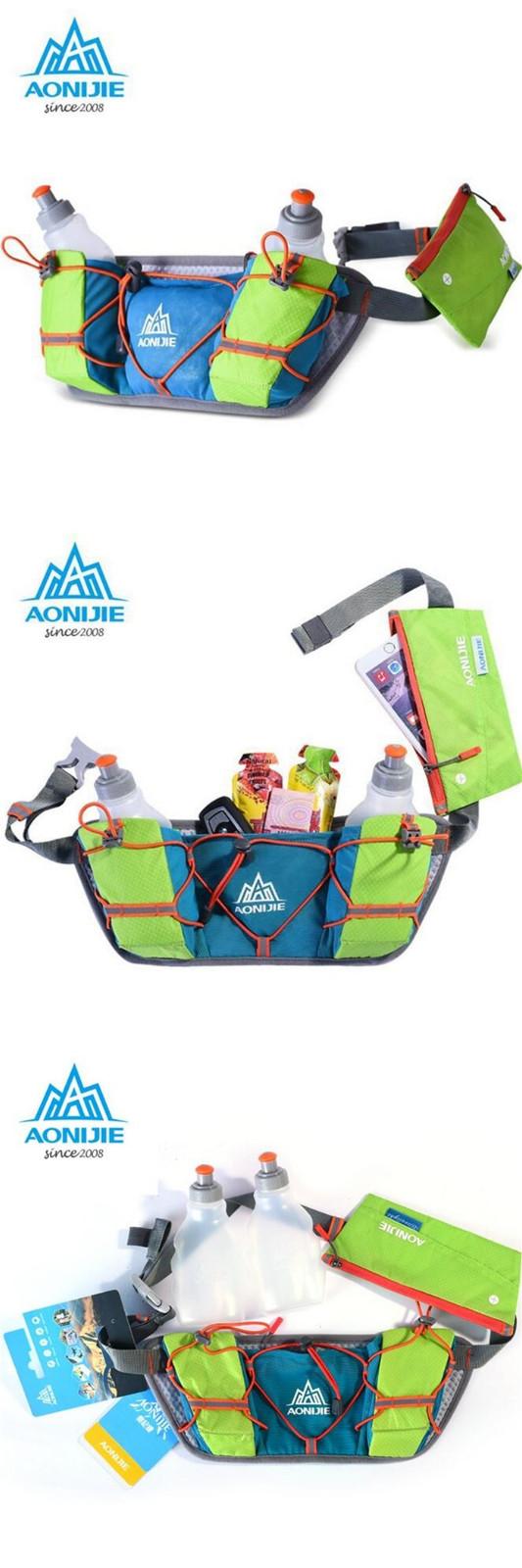 AONIJIE Running Waist Bag Outdooors Multifunction Light Weight Water Bottle Holder Belt