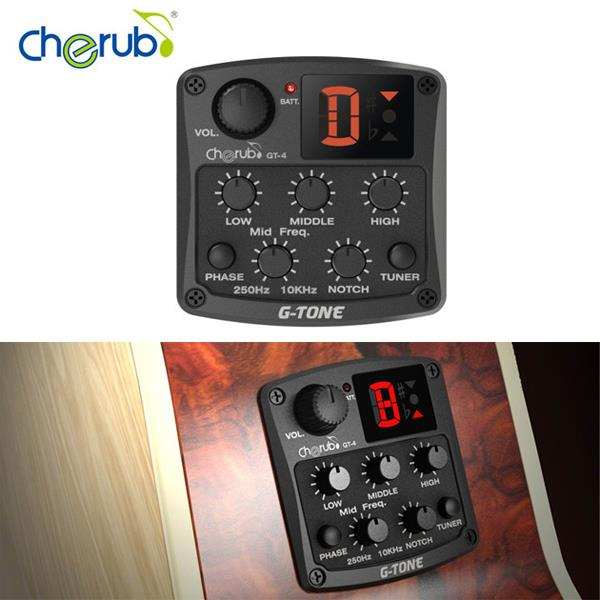 Cherub GT-4 Acoustic Guitar Preamp 3 Band EQ Pick Up Fo