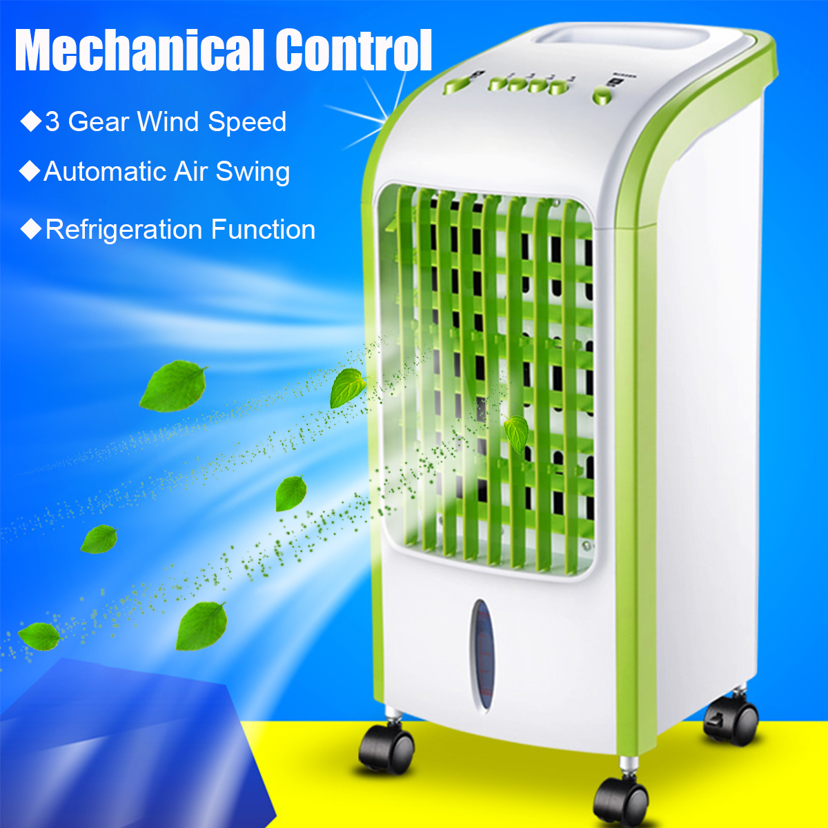 220V Portable Air Conditioner Fan Humidifier Cooler Water Cooling System Mechanical/Remote Control