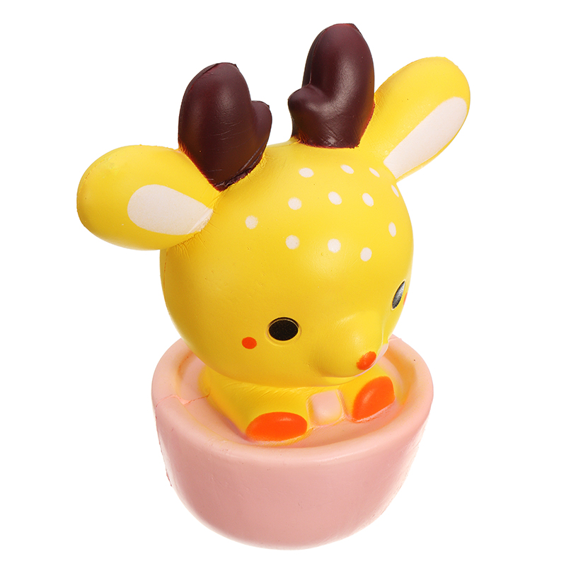 NO NO Squishy Deer Cup Teacup Elk 16cm Slow Rising With Packaging Collection Gift Decor Toy