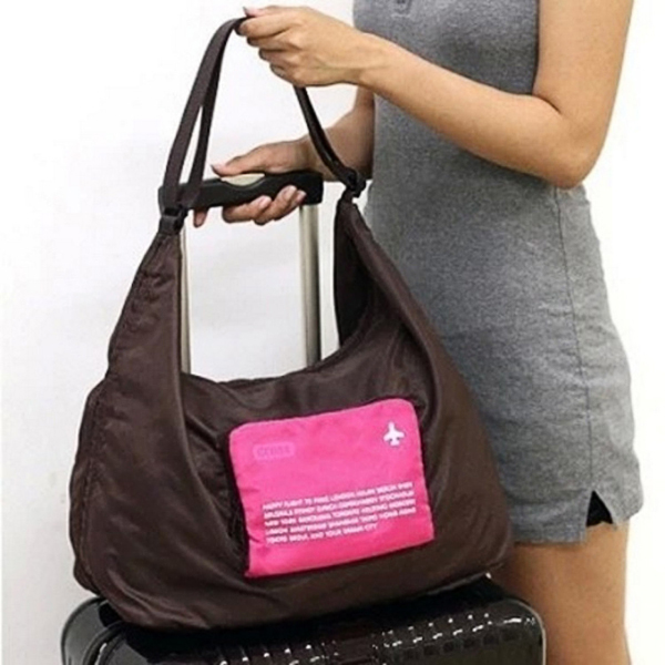 Travel Light Weight Duffel Gym Bags Foldable Storage Luggage Bags Shoulderbags Crossbody Bags