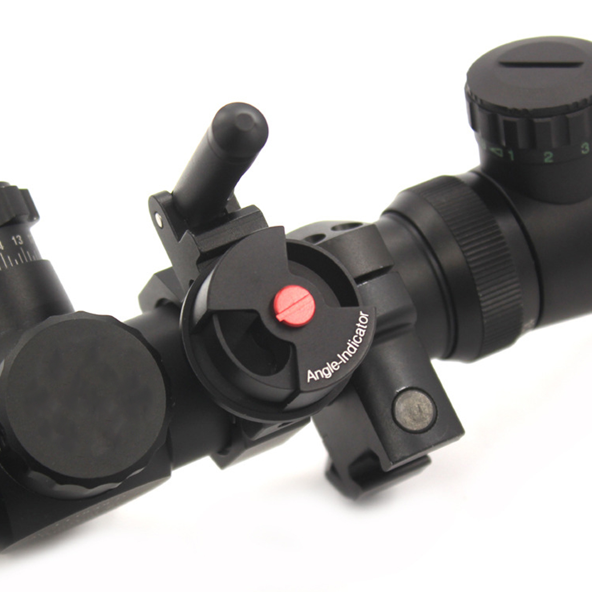 Left-hand 25.4/30mm Ring Angle Degree Indicator (ADI/ACI) Scope Mount Level Laser Sight Rail