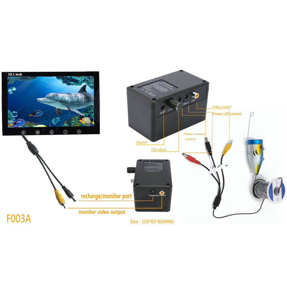 Underwater 10inch Camera HD Visual Fishing System With LCD Screen IR/LED Light Infrared Lamp ICE Fishing Hot Sell