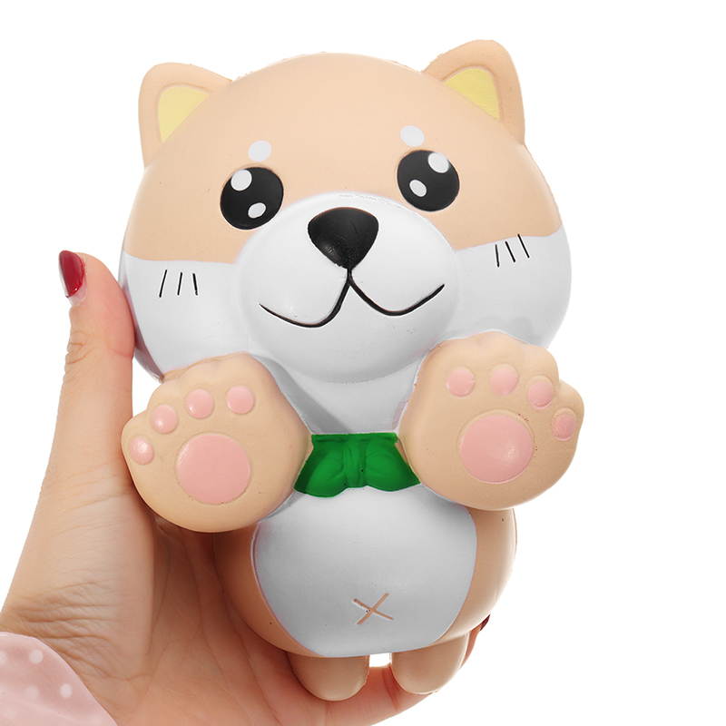 15CM Phone Strap Squishy Slow Rising Kids PU Simulation Large Angel Dog Toys Original Packaging