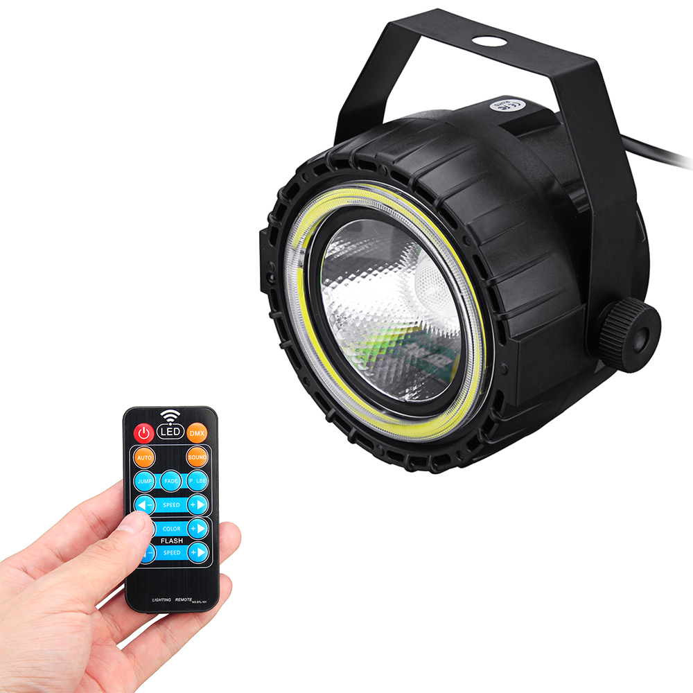 ARILUX® AC90-240V 15W RGB LED Stage Light Remote Control Sound-activated Par Lamp for Christmas