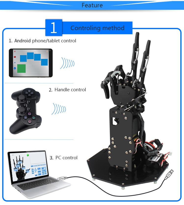 uHand Metal Manipulator Arm Robot Palm Arm Five Fingers