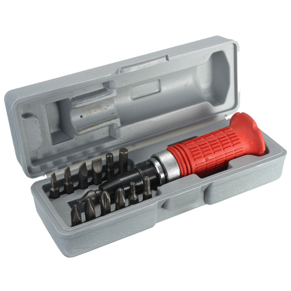 14pcs Heavy Duty Impact Screwdriver Wrench Bits Tool Set with Case Rusted