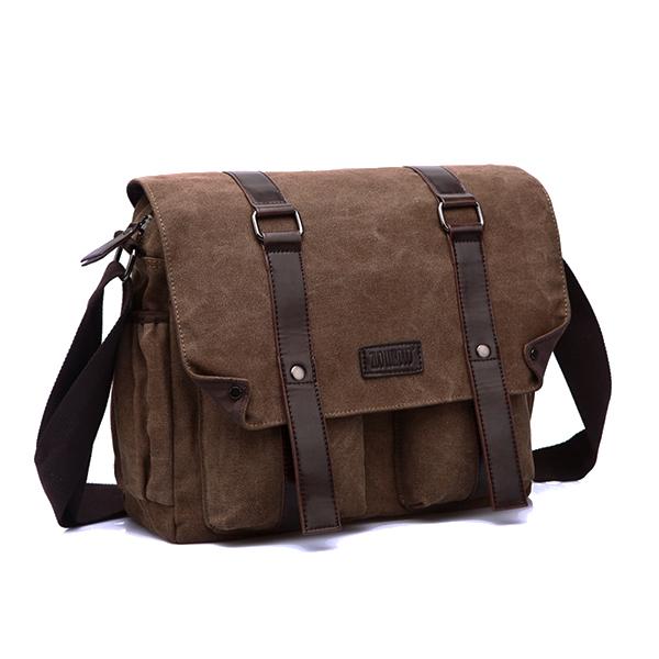 Men Canvas Messenger Casual Crossboby Bag Large Capacity Shoulder Bag