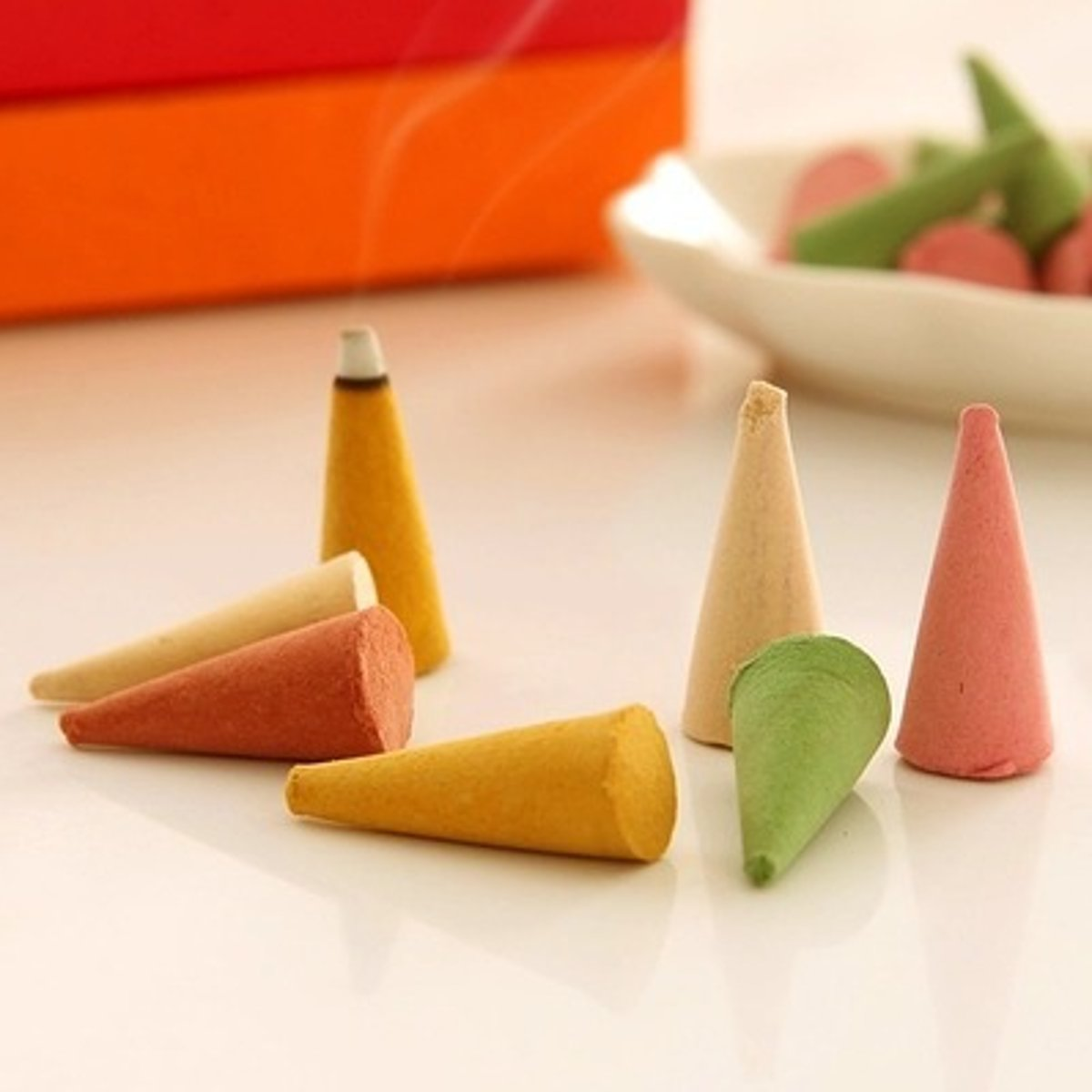 Natural Incense Cones Lines Set Home Buddhism Sleeping Aromatherapy Box-packed Home Decor