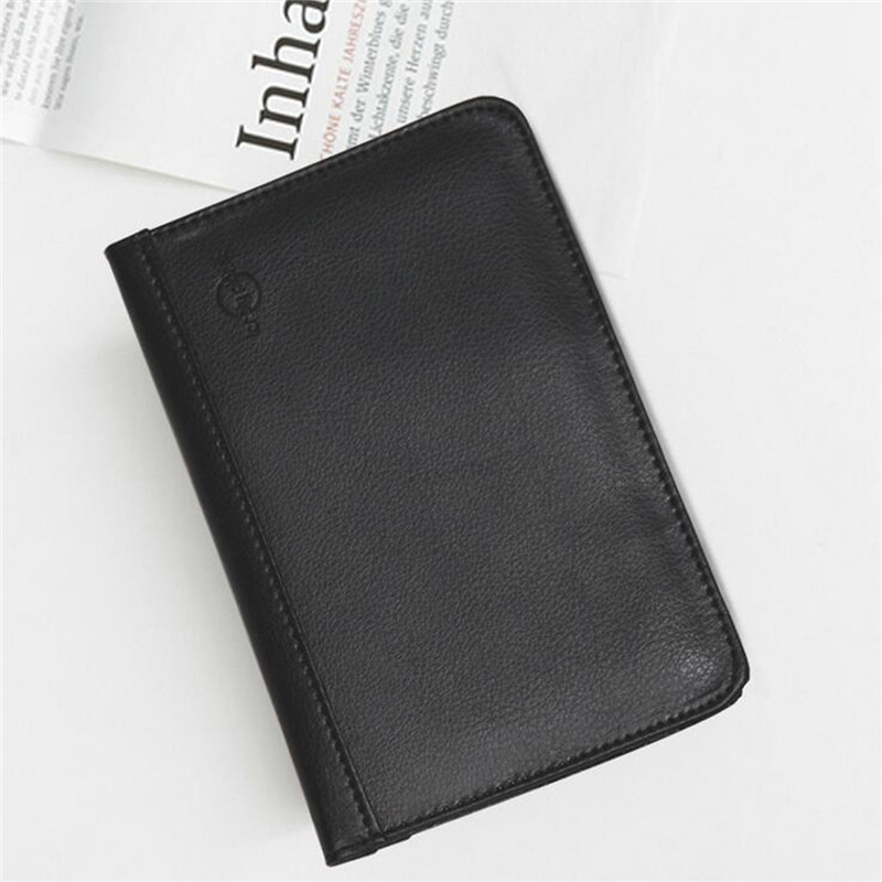 RFID Blocking PU Leather Passport Holder 9 Slot ID Credit Card Case Travle Wallet