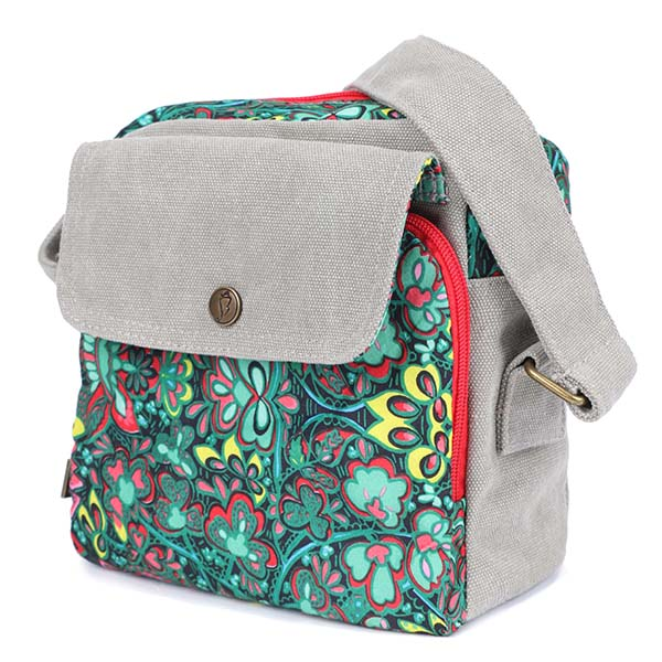 Women Canvas Korean Fashion Printing Crossbody Shoulder Bag