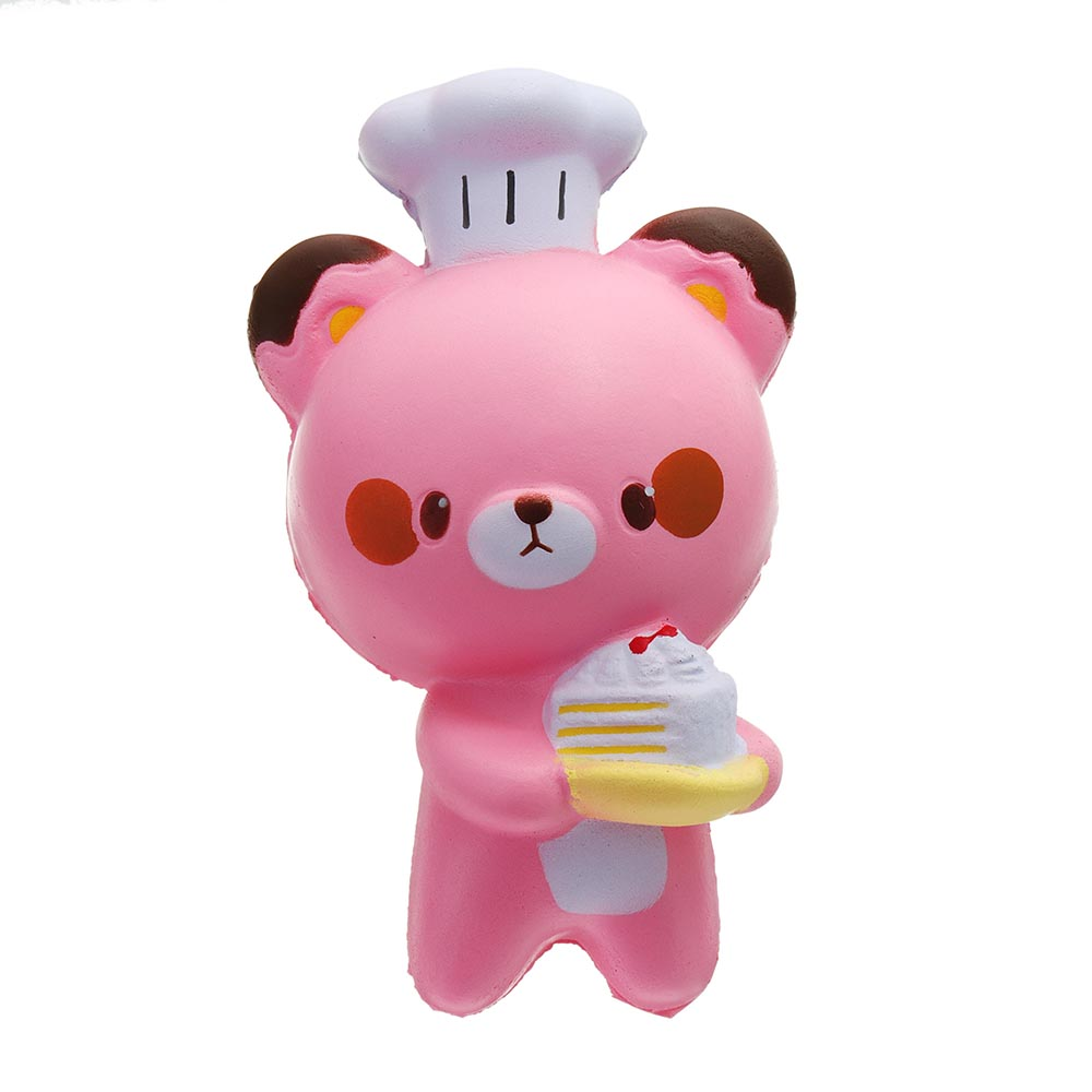 Cook Bear Chef Squishy 7.5*14.5CM Slow Rising With Packaging Collection Gift Soft Toy