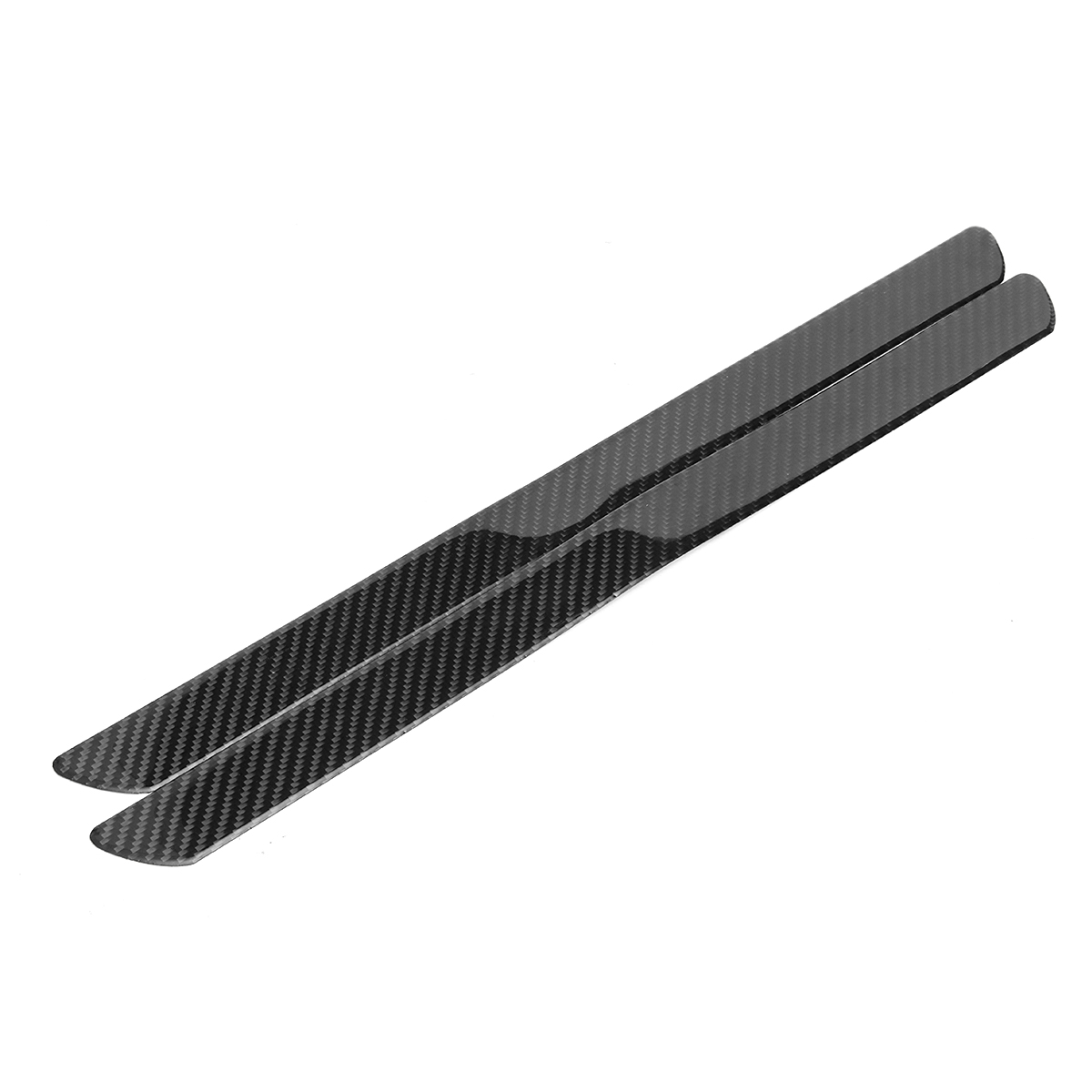One Pair Universal Car Scuff Plate Door Sill Panel Step Protector Carbon Fiber Guard