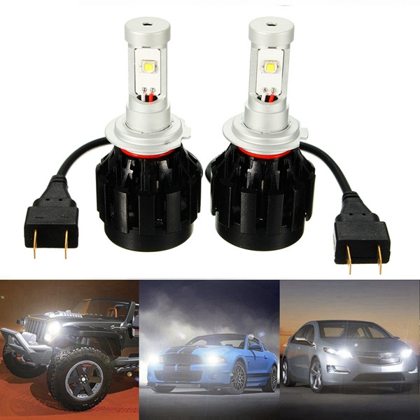 Pair H7 30W 3200LM High Low Beam LED Headlight Car Front Lamp White