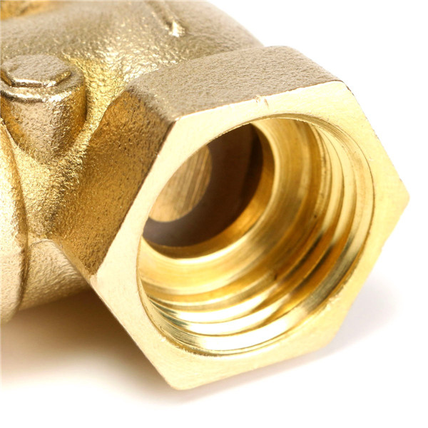 Brass 1/2 Inch Thread Golden Female BSPP Swing Check Valve