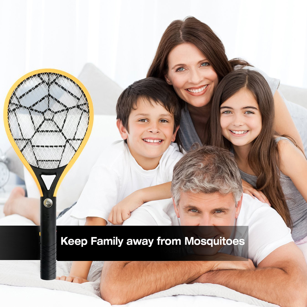 Electric Rechargeable Mosquito Swatter 3 Layer Mesh Mosquito Killer Hand Racket