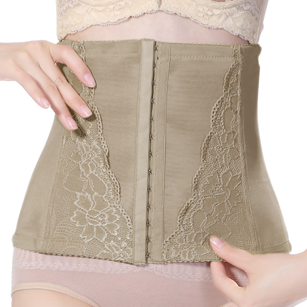 Front Hook-and-eye Girdle Breathable Waist Cinchers