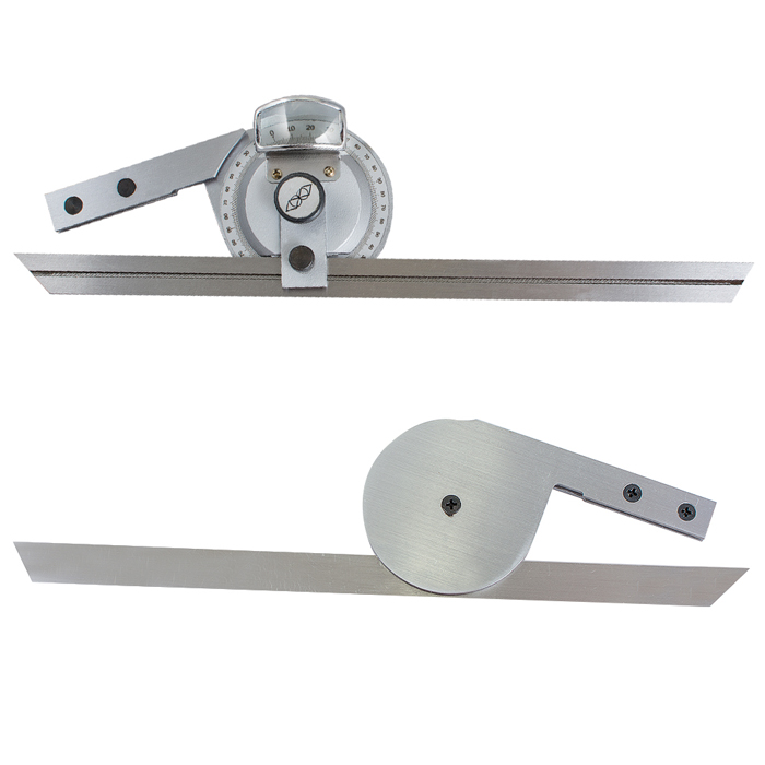 0-360° Stainless Steel Universal Bevel Protractor Angle Finder Angular Dial Ruler Goniometer with 300mm Blade
