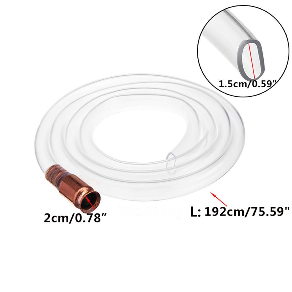 1.92M Jiggler Shaker Siphon Anti-Static Hose Fuel Hose Silicone Hose Self Priming Tubing Brass Tip