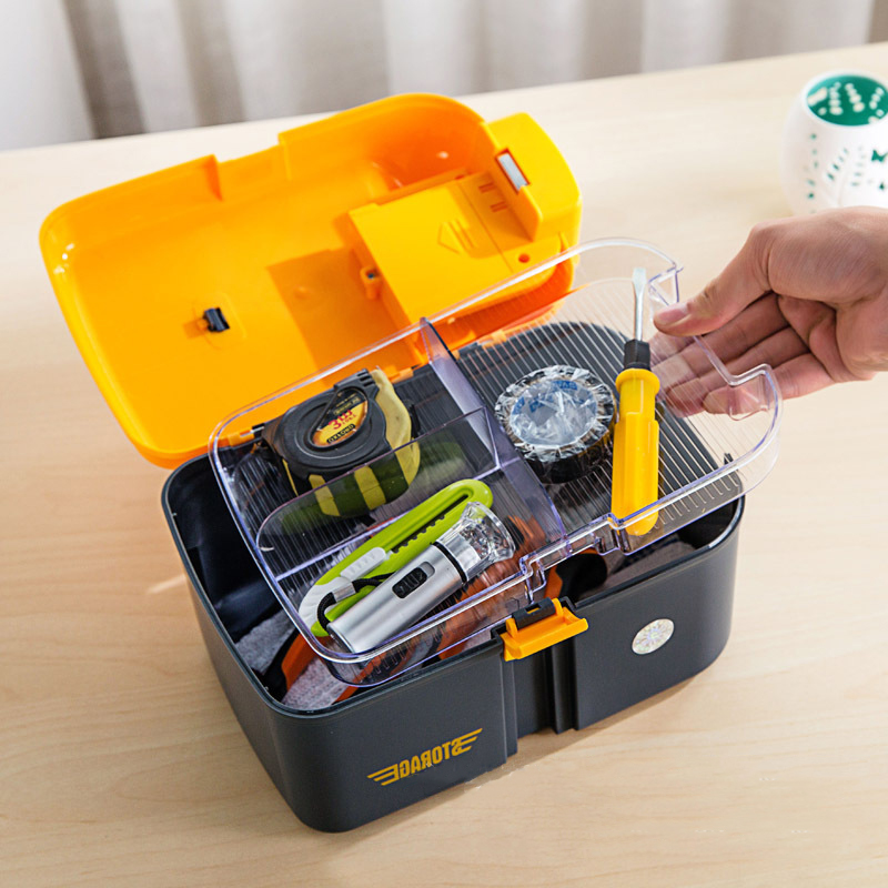 3 Sizes Multifunctional PP Fishing Tool Cabinet with LED Lighting Eco Friendly and Storage Boxes