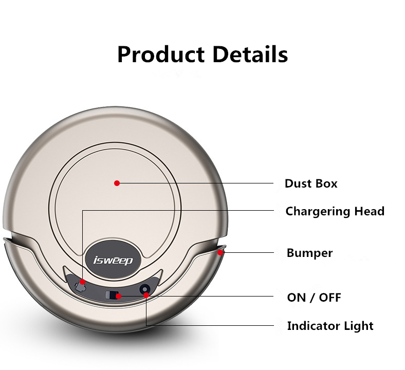 New Arrival S320 Smart Robot Vacuum Cleaner For Home Appliances Mopping Machine Mopping Cloth Strong Suction Random Type
