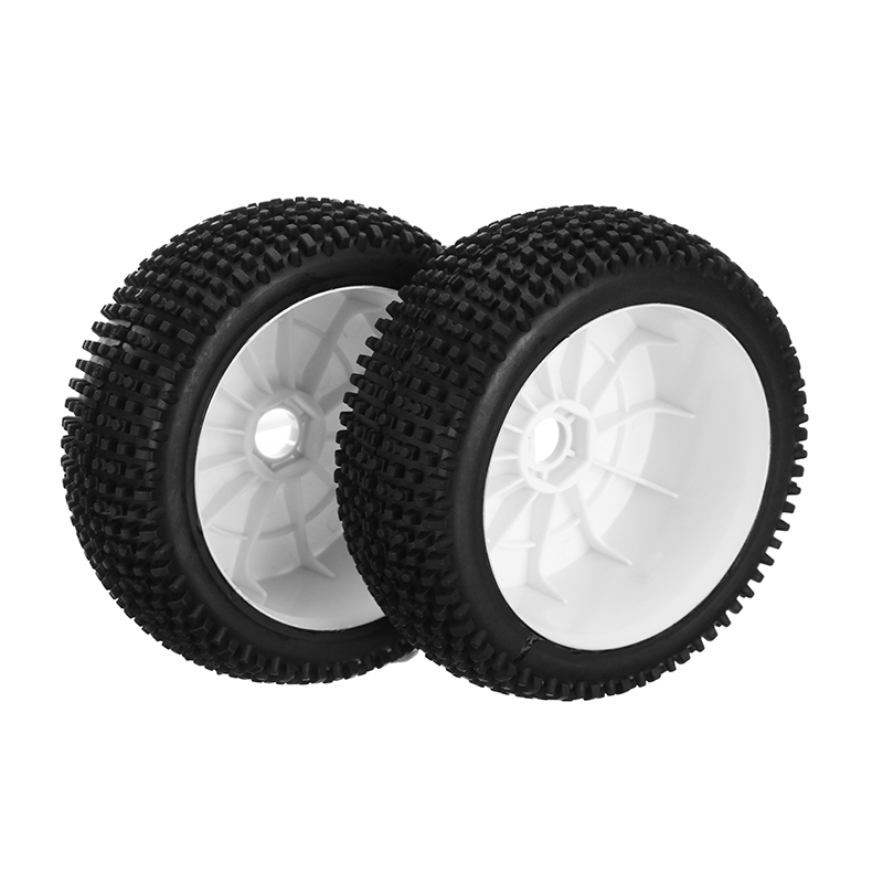 DHK Hobby 8381-722 Wheel Tyre Tire Complete White Rims 2pcs 1/8 8381 Optimus RC Car Parts