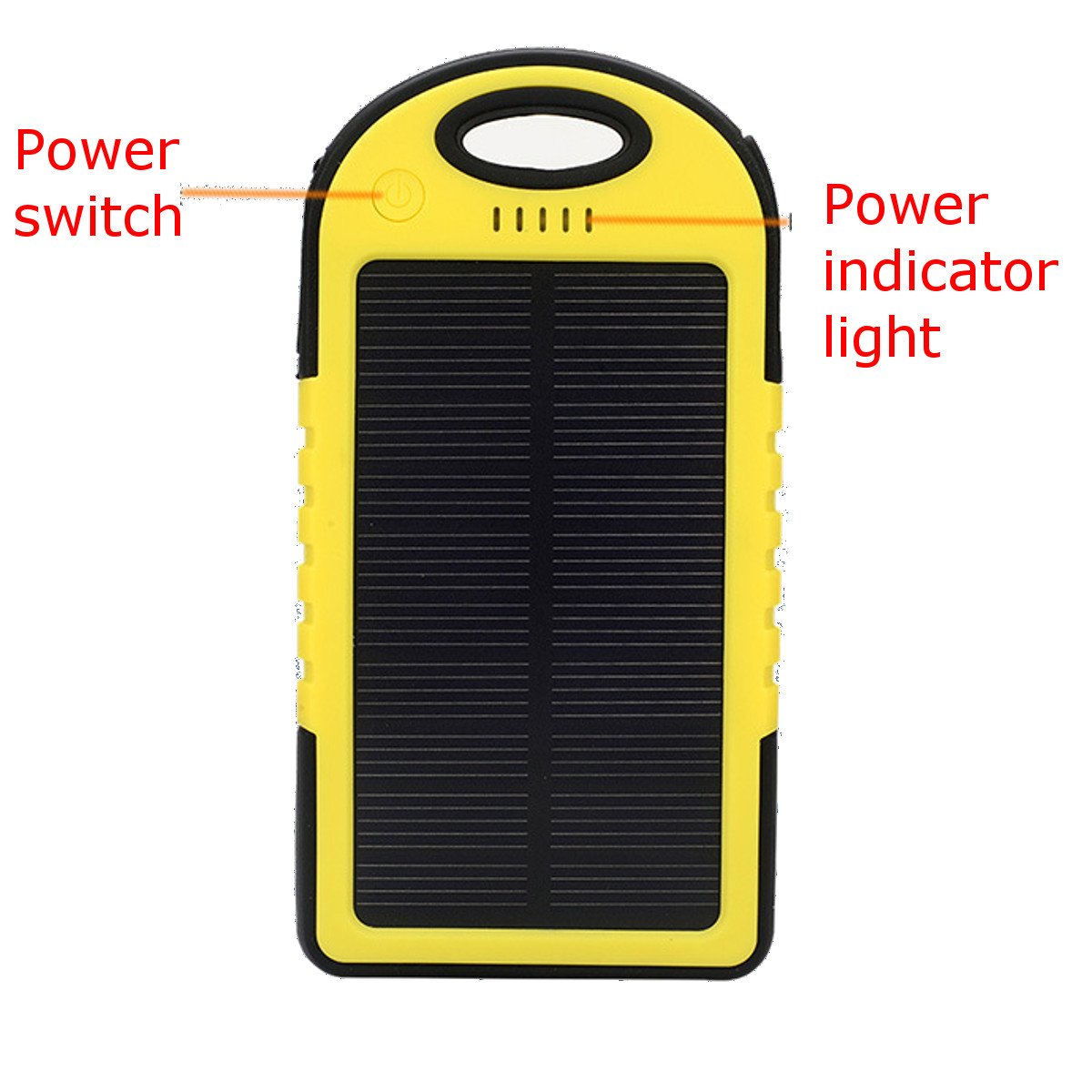 Solar Energy Power Bank Case 5000mAh Solar Power Bank Dual 2 USB Waterproof Portable Charger Case 1A