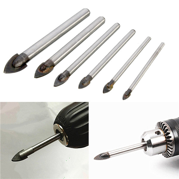3-10mm Triangle Tip Glass Drill Bit 3/4/5/6/8/10mm Tile Cermic Drill Bit
