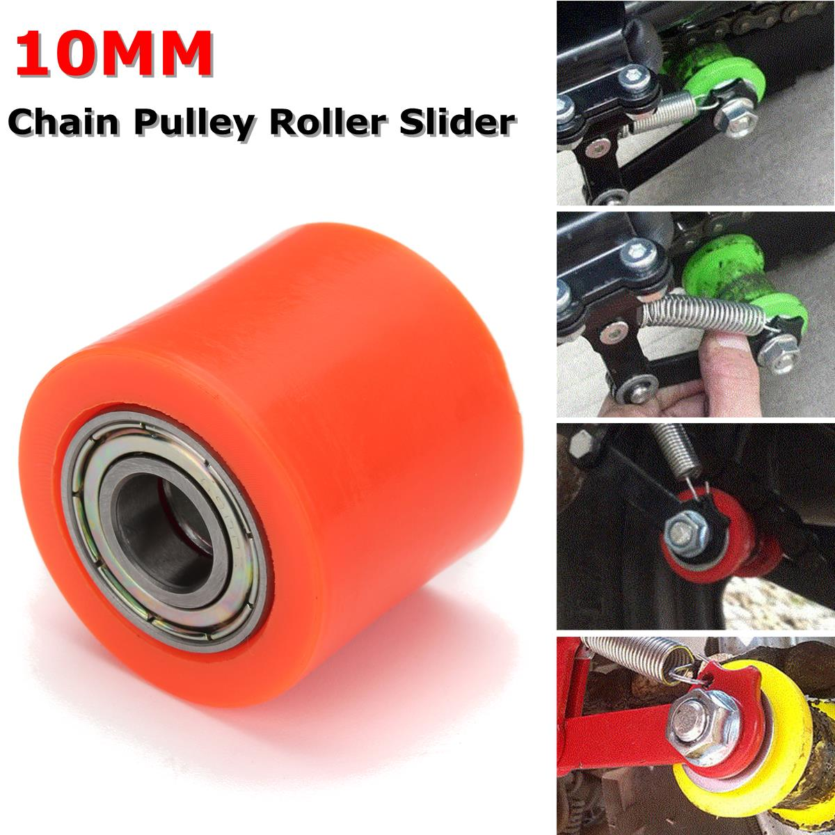 10mm Chain Roller Pulley Slider Tensioner Wheel Guide For Motorcycle Pit Dirt Mini Bike ATV