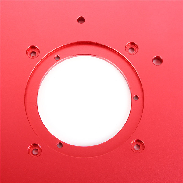Red 200x300x10mm Aluminum Router Table Insert Plate For Woodworking Engraving Machine