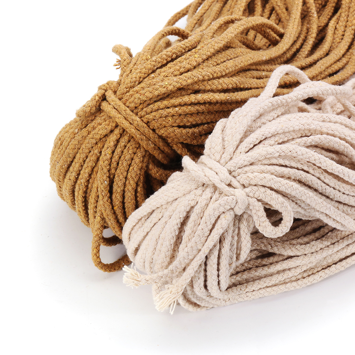 8 Strands Braided Wire Natural Cotton Flower Pot Holder Hanging Rope Twisted Cord DIY Macrame String