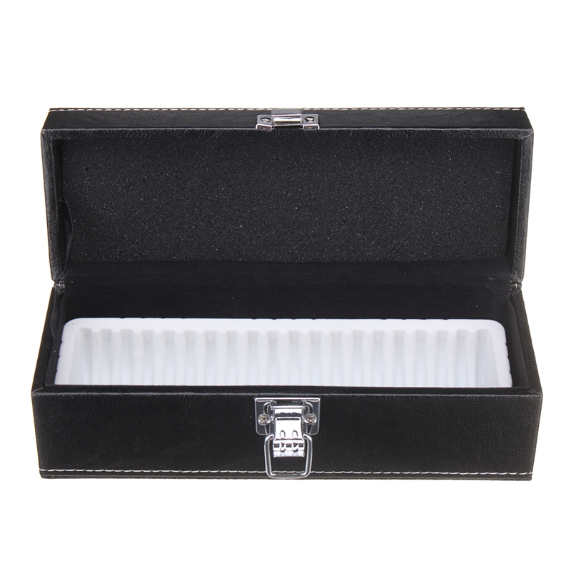 1PCS PU Leather Coin Storage Box Case Security Display Safe Holder Capacity 20 PCGS Or Coins