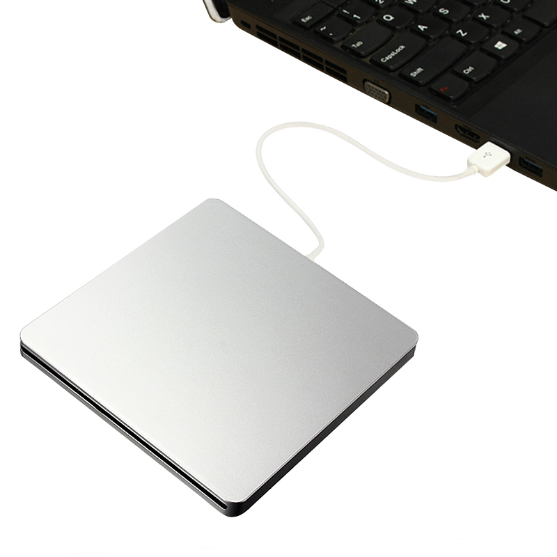 External Slot-in USB DVD CD RW Driver DVD Burner Optical Drive for Macbook