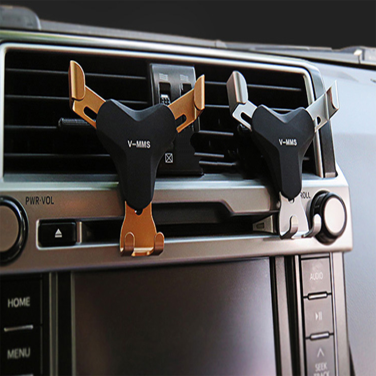 Universal Adjustable Car Air Vent Gravity Holder Mobile Phone Car Mount Bracket for iPhone Samsung