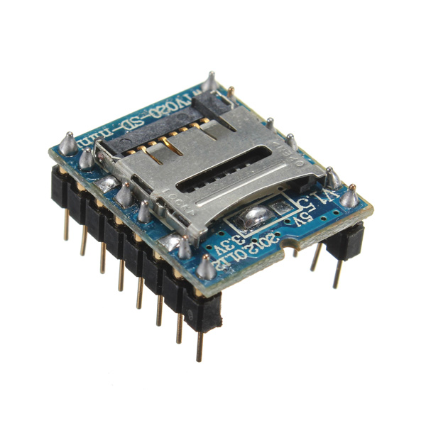 MP3 Voice Module Audio Player Module WTV020-SD-16P 16bit DAC SD Card U Disk MP3 Format Sound Key Control Board
