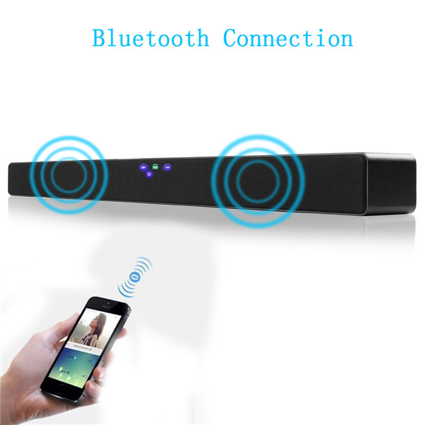 bluetooth4.0 Echo TV Soundbar Speaker 3D Audio Sound Support Wall Hanging Home