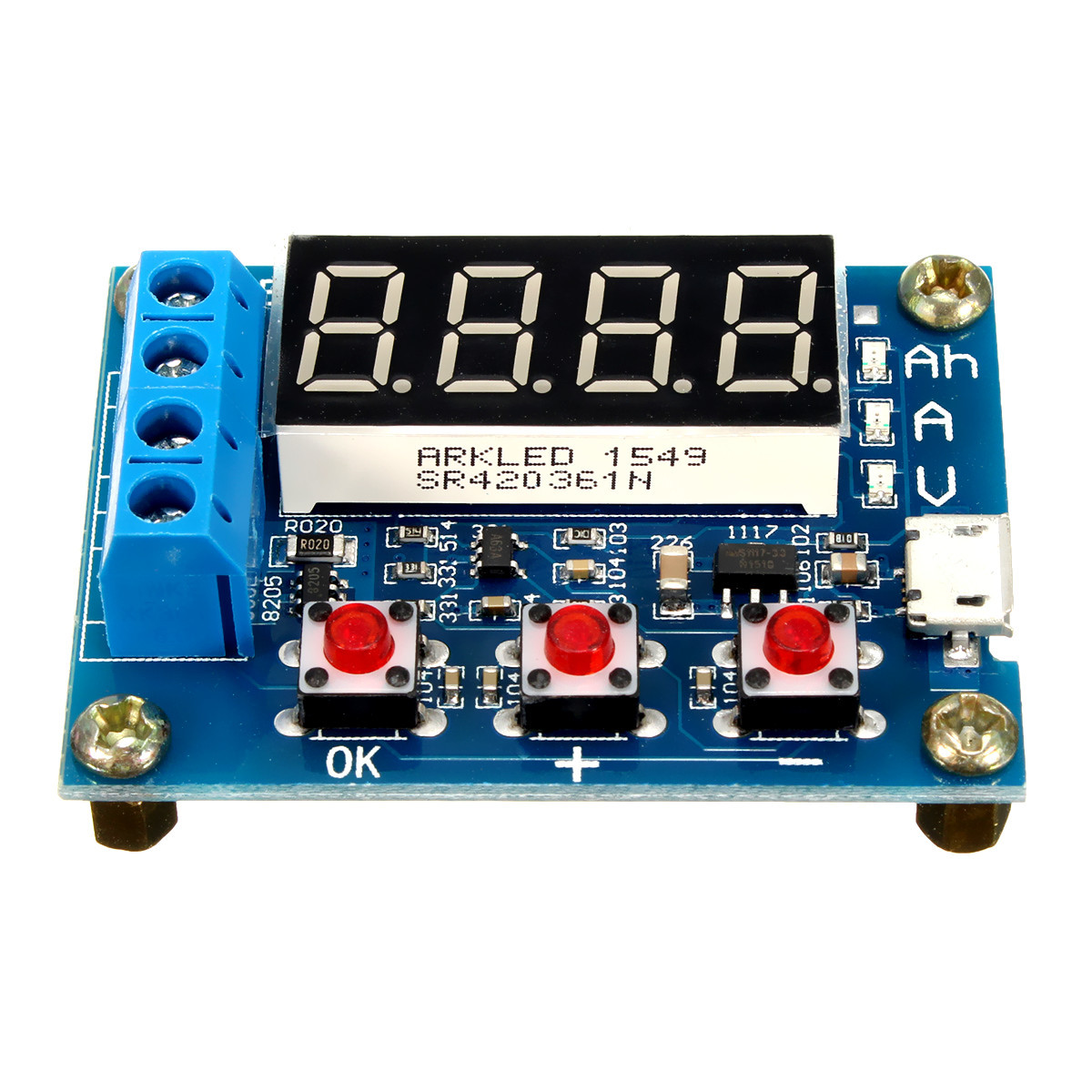 1.2v - 12v Battery Capacity Meter Tester For 18650 li-ion/lead-acid Battery