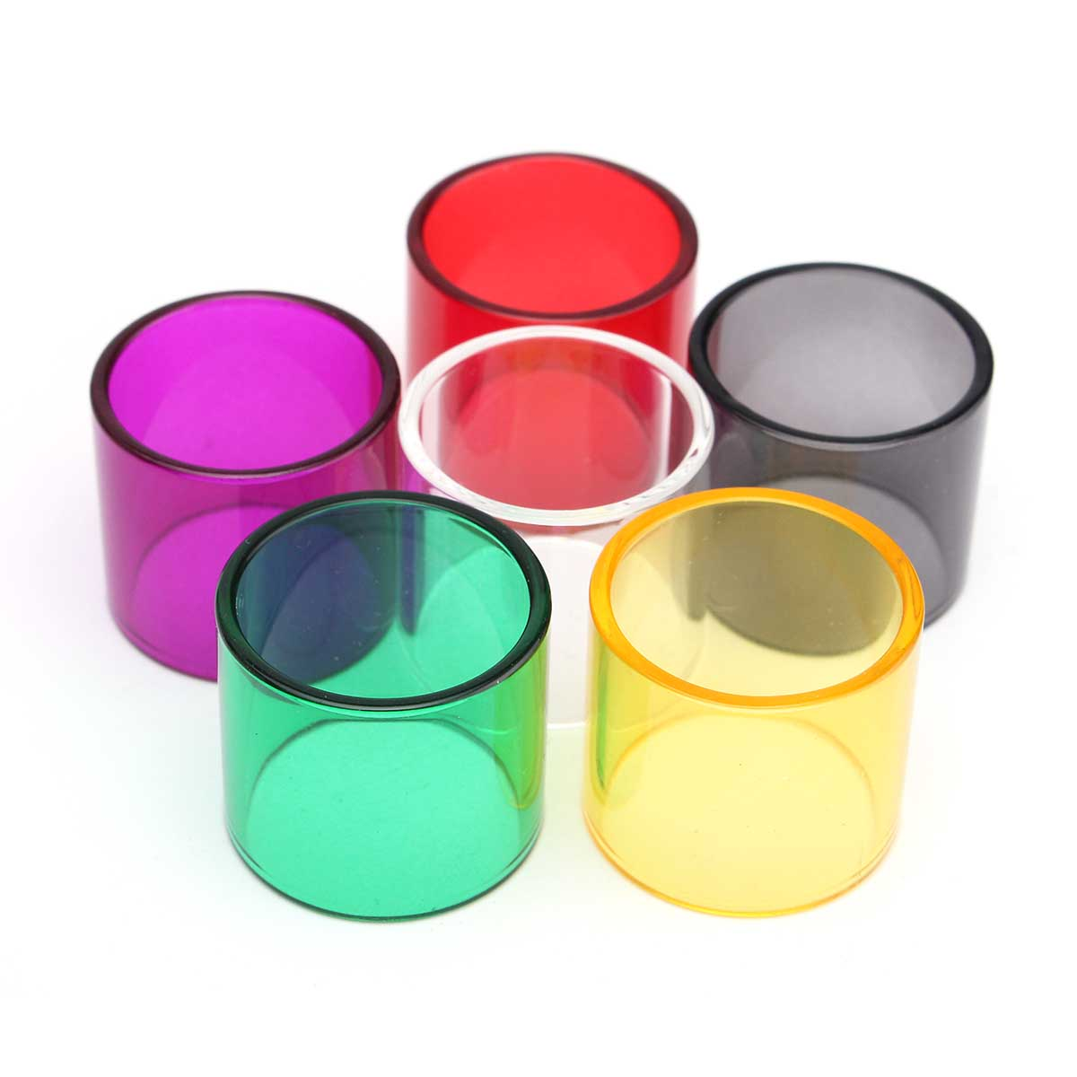 Colored Replacement Transparent Pyrex Glass Tube Cap for TFV8 Baby Beast 7 Colors