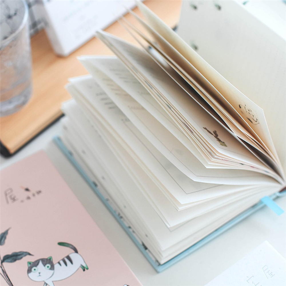 1Pcs Cute Hard Cover Notebook Diary Journal Travel Memo Planner Writing Notepads For Office School